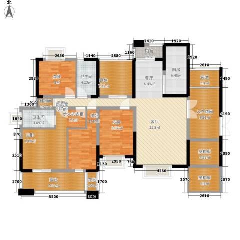 人寿保险宿舍4室0厅2卫1厨188.00㎡户型图