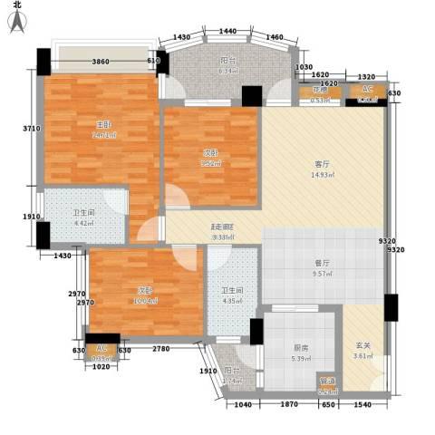 颐和上院3室0厅2卫1厨113.00㎡户型图