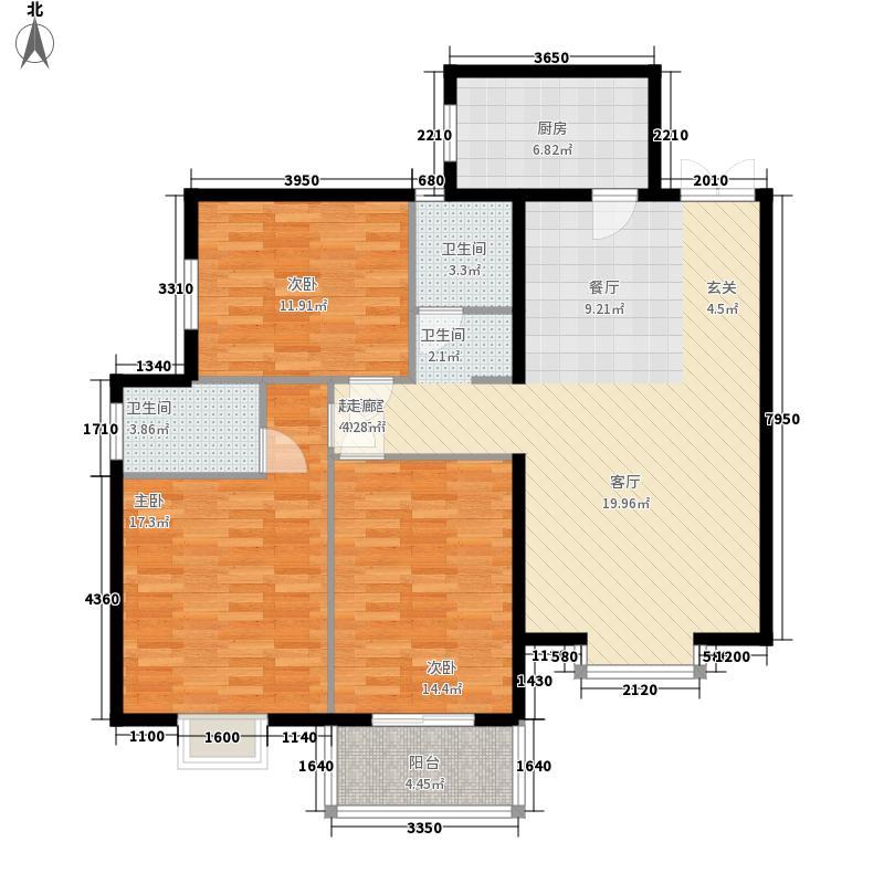 福兴国际114.00㎡3室2厅2卫