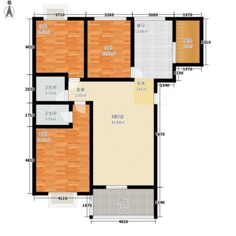 华宇凤凰城3室0厅2卫1厨130.00㎡户型图