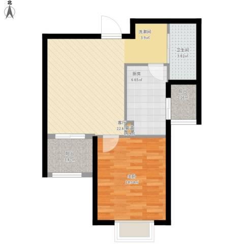 安联青年城1室1厅1卫1厨77.00㎡户型图