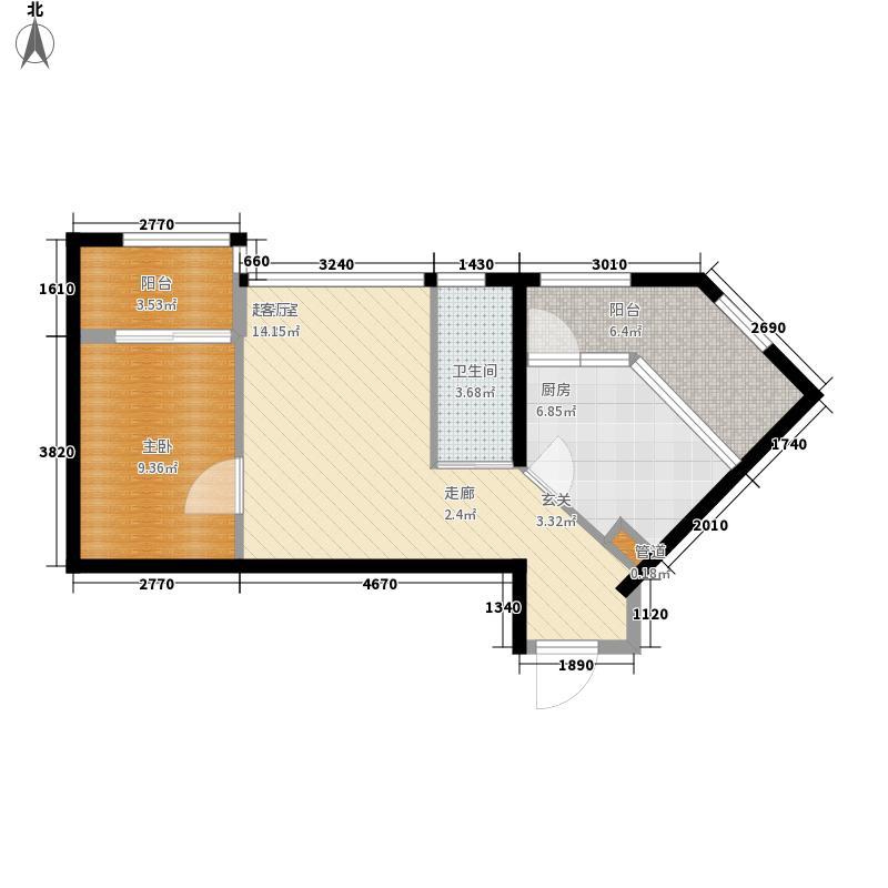 时光俊园56.35㎡时光俊园户型图V2户型1室1厅1卫1厨户型1室1厅1卫1厨