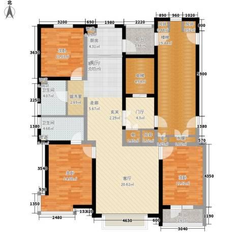实华・金域蓝湾3室1厅2卫1厨183.00㎡户型图