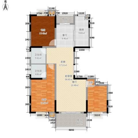 凤凰城3室0厅2卫1厨153.00㎡户型图