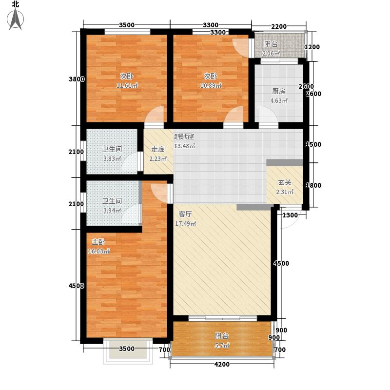 锦华小区115.49㎡锦华小区D户型-3室2厅2卫2阳台3室2厅2卫115.49㎡户型3室2厅2卫
