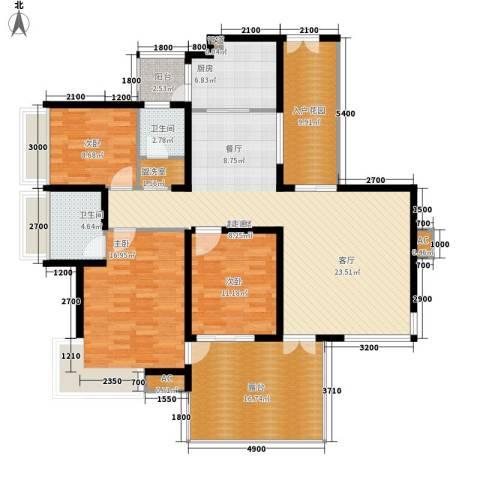 金龙国际花园3室0厅2卫1厨175.00㎡户型图