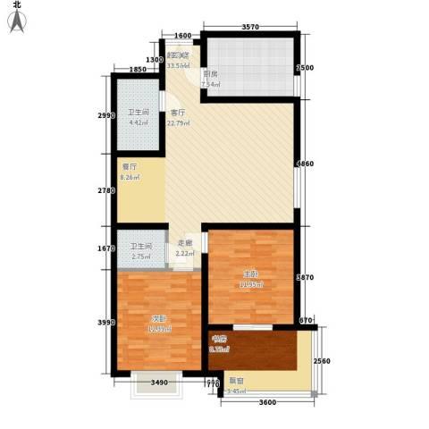 华宇凤凰城3室0厅2卫1厨92.00㎡户型图