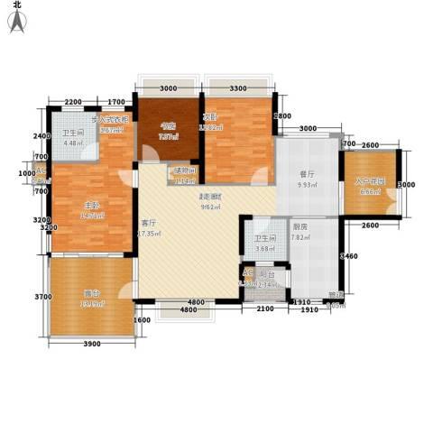 金龙国际花园3室0厅2卫1厨162.00㎡户型图