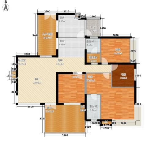 金龙国际花园4室0厅2卫1厨218.00㎡户型图