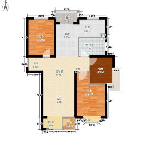 佳和新城六期3室0厅1卫0厨116.00㎡户型图