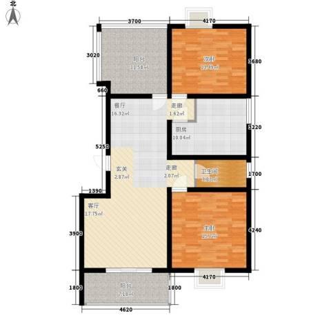 华宇凤凰城2室0厅1卫1厨110.00㎡户型图