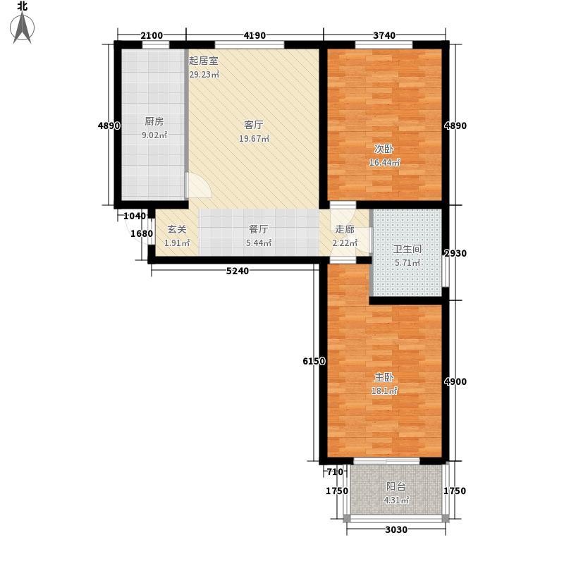 香溪茗苑1#一单元A2室户型