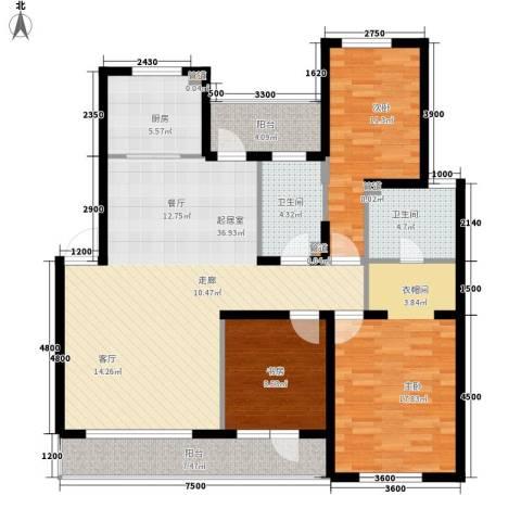 北国奥林匹克花园3室0厅2卫1厨114.88㎡户型图