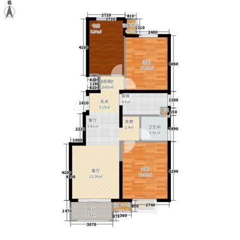 晋中万科・朗润园3室0厅1卫1厨106.00㎡户型图