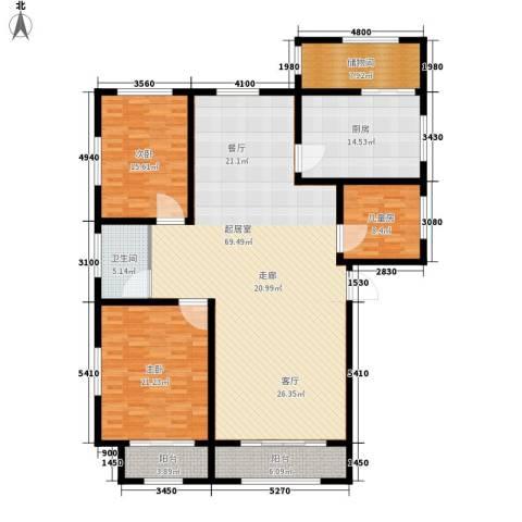 朱雀花园3室0厅1卫1厨172.00㎡户型图