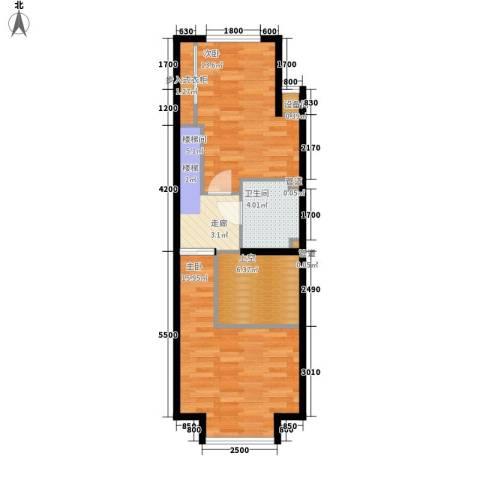 阳光100城市丽园2室0厅1卫0厨67.00㎡户型图