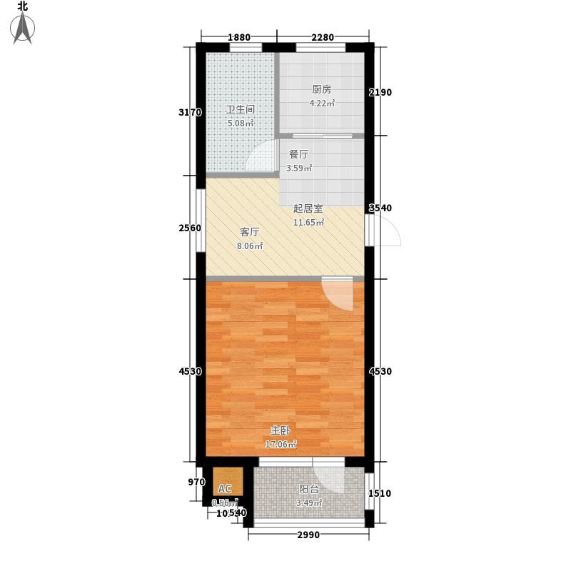 金港湖畔49.05㎡金港湖畔户型图户型图1室1厅1卫1厨户型1室1厅1卫1厨