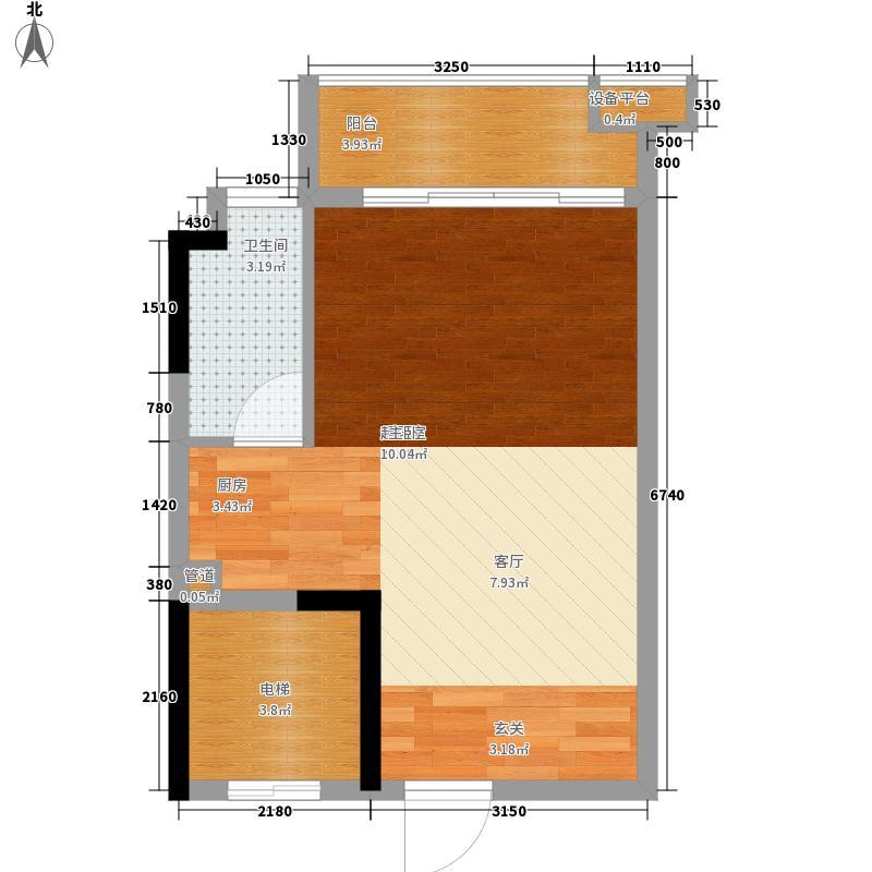 百合嘉园41.00㎡百合嘉园户型图嘉丽阁3-11层01单位1室1厅1卫1厨户型1室1厅1卫1厨