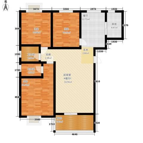 华宇凤凰城3室0厅2卫1厨125.00㎡户型图