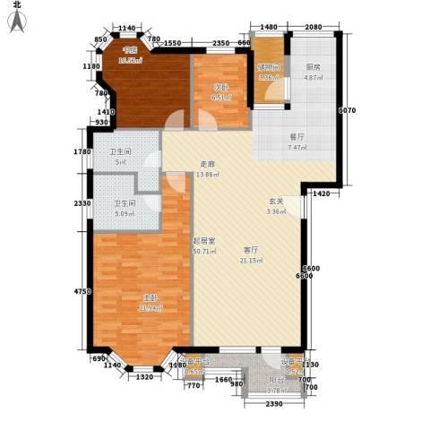 君悦天下3室0厅2卫0厨120.00㎡户型图