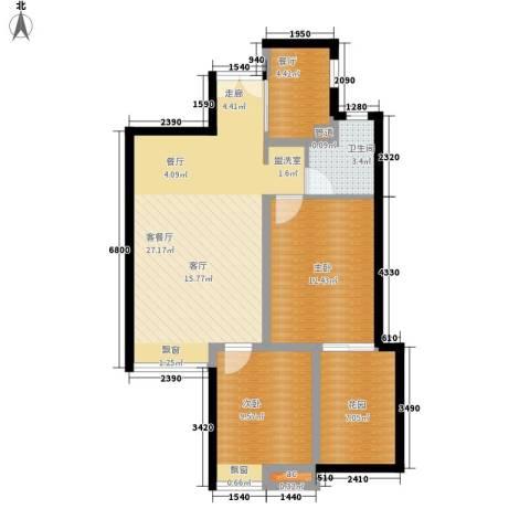 菜园小区2室2厅1卫0厨100.00㎡户型图
