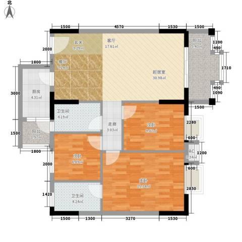 威斯登堡3室0厅2卫1厨115.00㎡户型图