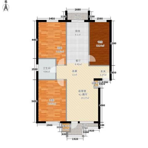 君悦天下3室0厅1卫0厨106.00㎡户型图