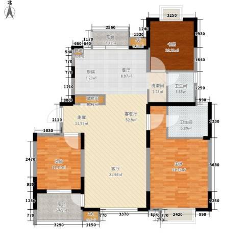名馨花园3室1厅2卫0厨130.00㎡户型图