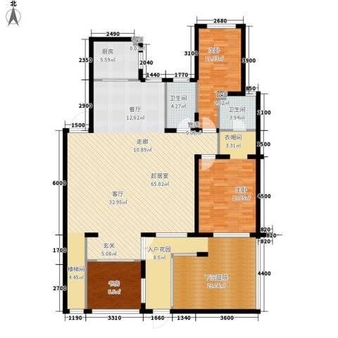 北国奥林匹克花园3室0厅2卫1厨157.61㎡户型图