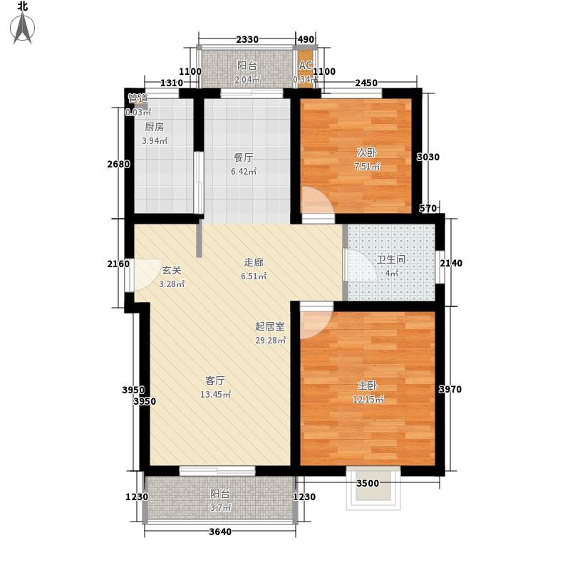 玫瑰公馆73.00㎡玫瑰公馆2室户型2室