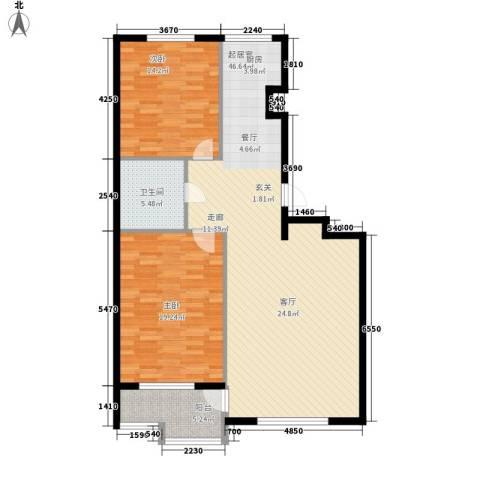 君悦天下2室0厅1卫0厨100.00㎡户型图