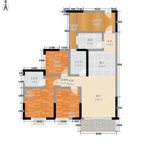 恒远帝都新城3室0厅2卫1厨140.00㎡户型图