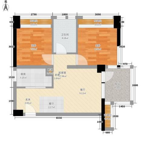 孔浦新村2室0厅1卫1厨58.00㎡户型图