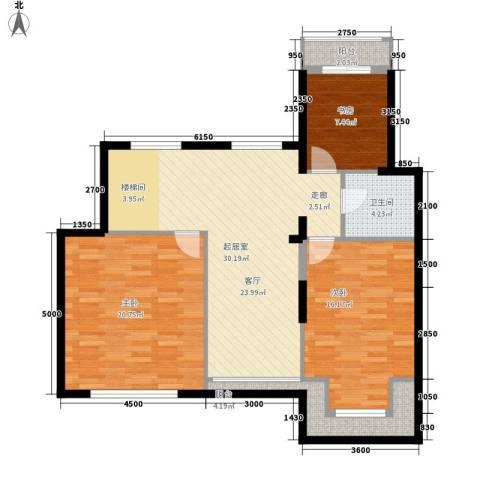 北国奥林匹克花园3室0厅1卫0厨95.37㎡户型图