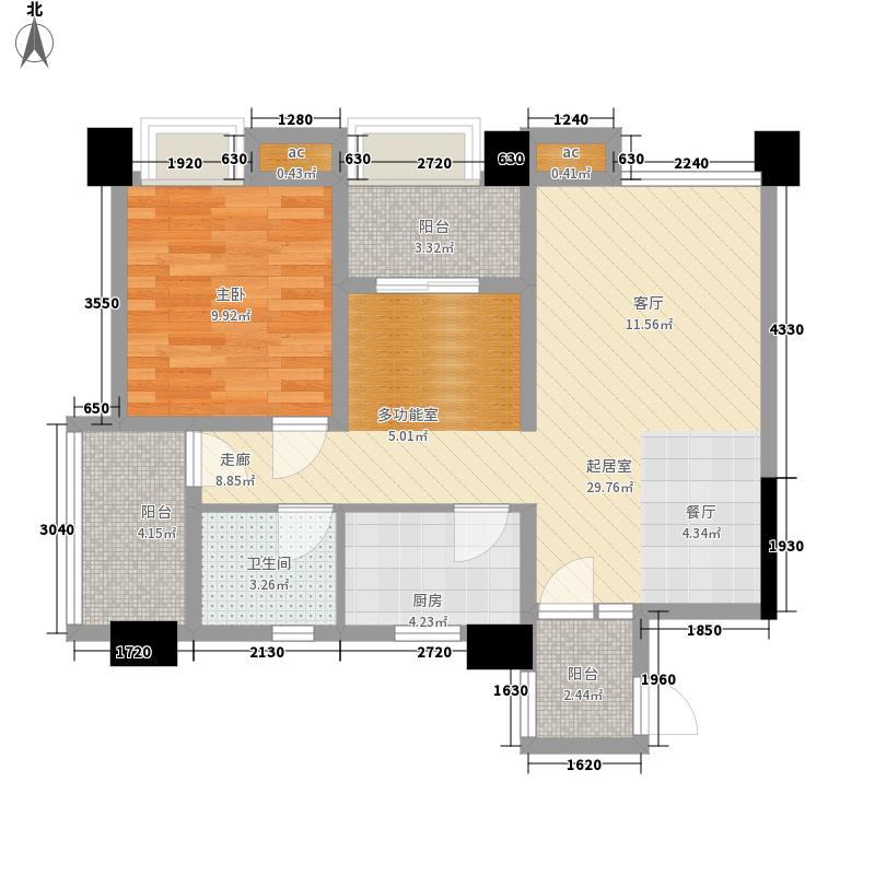 魏玛圈子77.00㎡3号楼C1面积7700m户型