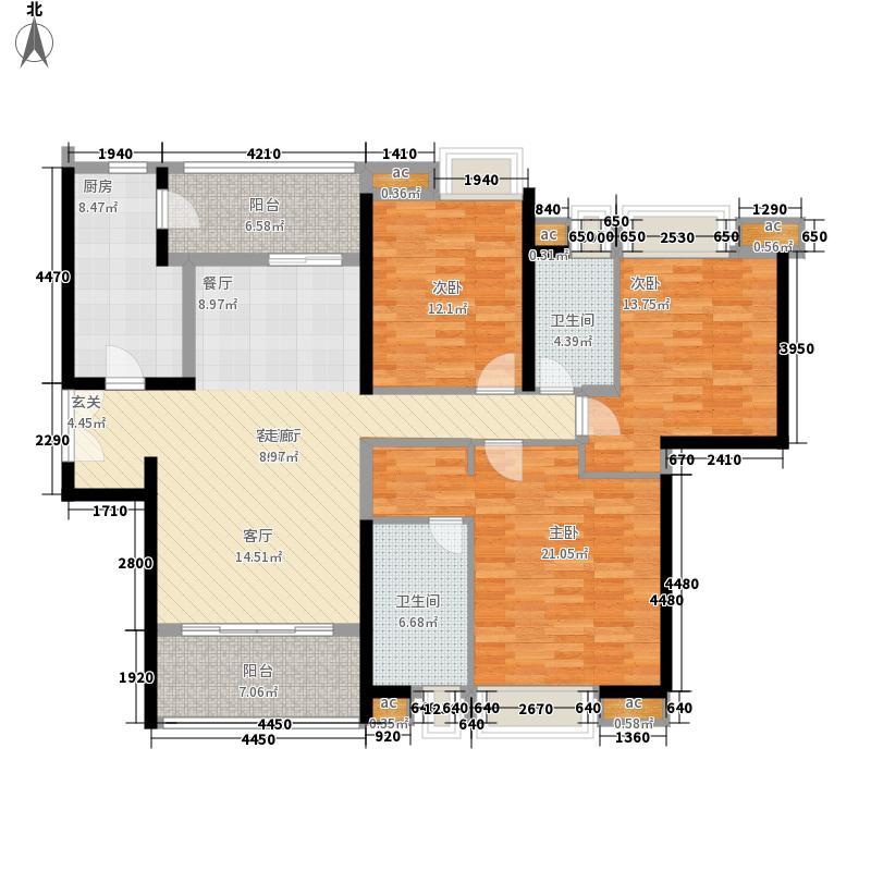 成都ICC住宅159.00㎡成都ICC3号楼户型3室3厅