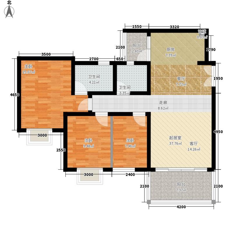 兴隆城市花园106.00㎡兴隆城市花园户型图3室2厅2卫1厨户型10室