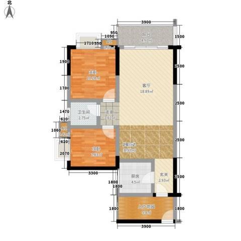 恒远帝都新城2室0厅1卫1厨100.00㎡户型图