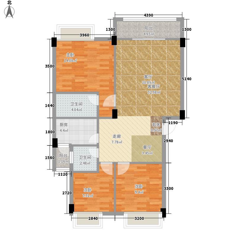 大福名城90.09㎡大福名城户型图户型图3室2厅2卫1厨户型3室2厅2卫1厨