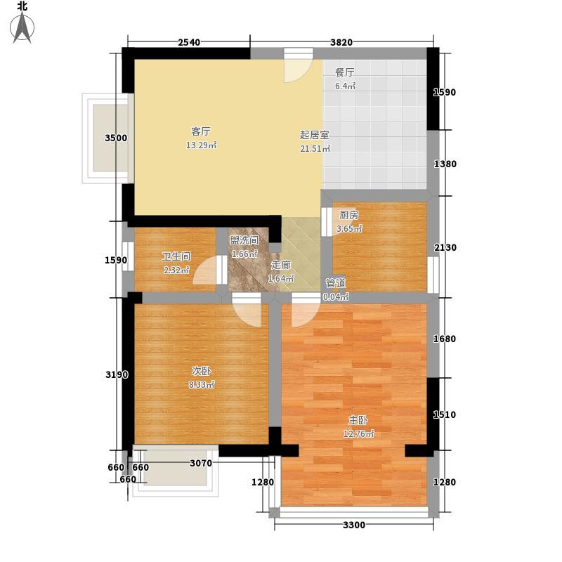 铜陵新村57.00㎡铜陵新村2室户型2室