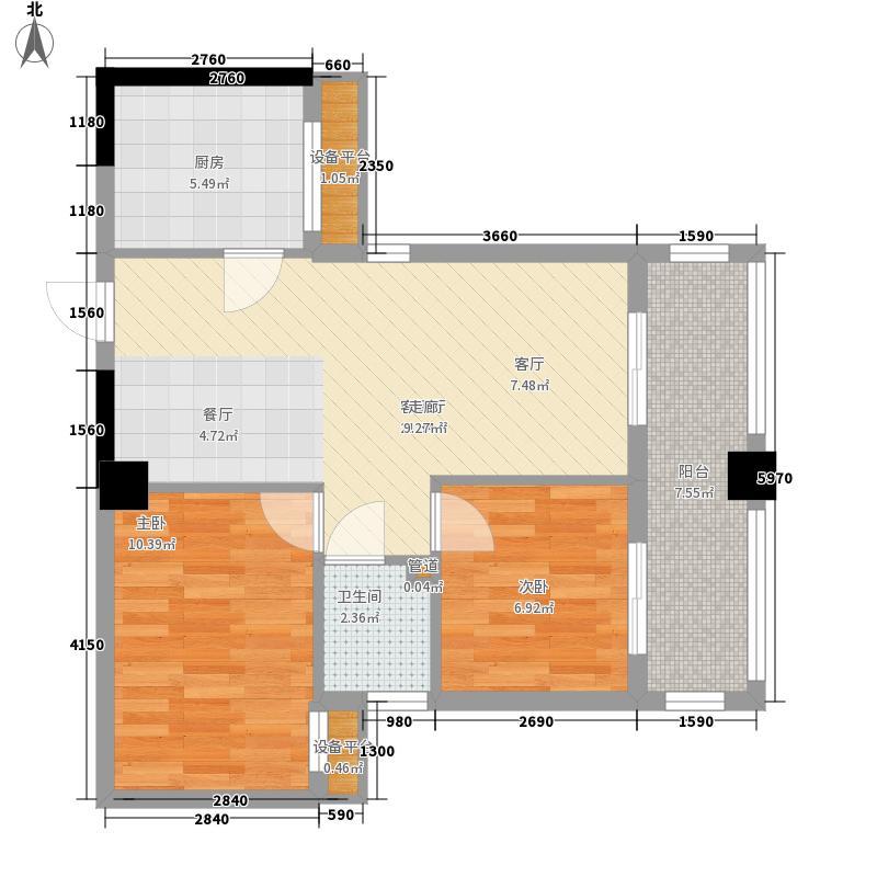 汉嘉都市森林78.70㎡汉嘉都市森林户型图睿特公寓B户型2室2厅1卫1厨户型2室2厅1卫1厨
