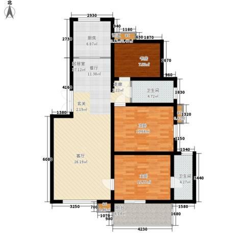 润源庭3室0厅2卫1厨109.00㎡户型图