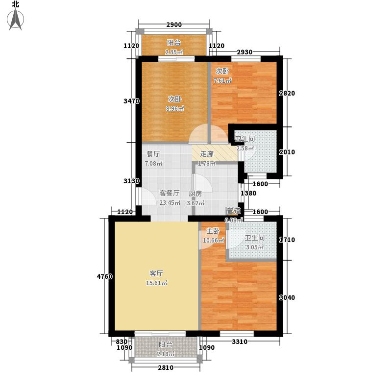 铜陵新村75.00㎡铜陵新村3室户型3室