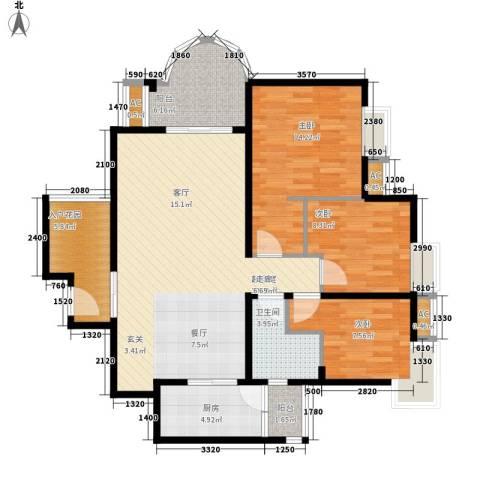 E时代3室0厅1卫1厨86.72㎡户型图