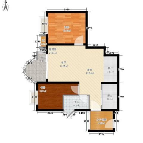 E时代2室0厅1卫1厨64.06㎡户型图