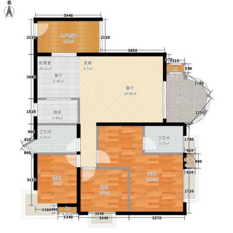 E时代3室0厅2卫1厨86.55㎡户型图