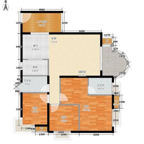 E时代3室0厅2卫1厨90.84㎡户型图