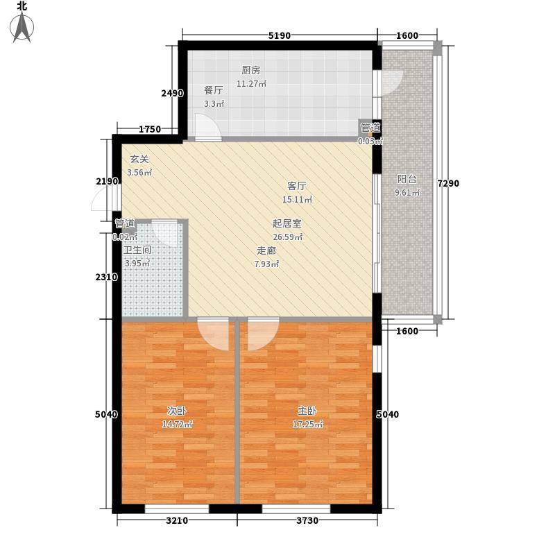 碧水湾92.85㎡碧水湾户型图经典两居户型2室1厅1卫1厨户型2室1厅1卫1厨