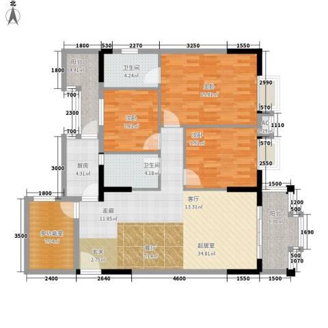 威斯登堡3室0厅2卫1厨123.00㎡户型图