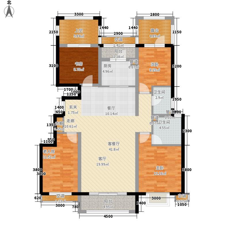 富立秦皇半岛138.53㎡A2奇数层户型4室2厅
